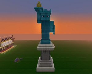 Minecraft Statue of Liberty
