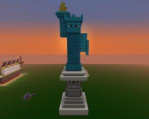 Minecraft Statue of Liberty