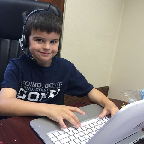 Ann T.'s son learning to engineer with redstone