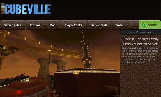 Cubeville Minecraft Server