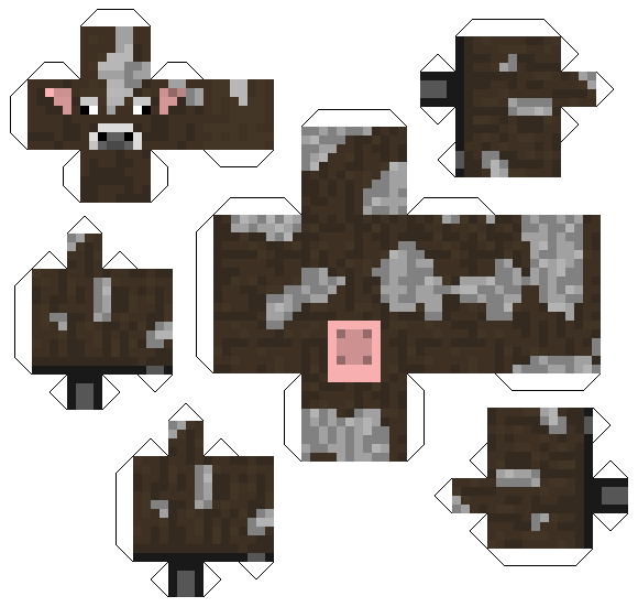 papercraft cow